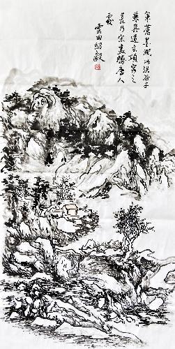 秋山隐居图