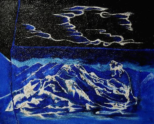 蓝色-山.花