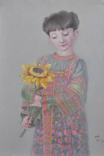 拿花的小女孩