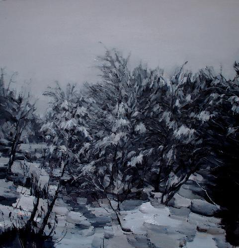 寒林暮雪1
