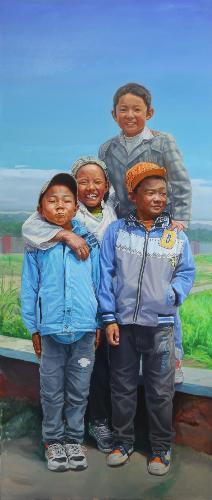 西藏儿童组画之左