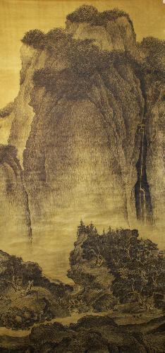 临《溪山行旅图》