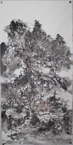 秋山寒林图