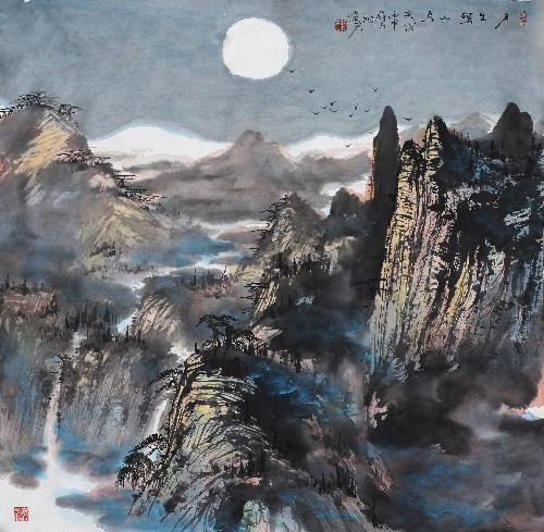 月出惊山鸟