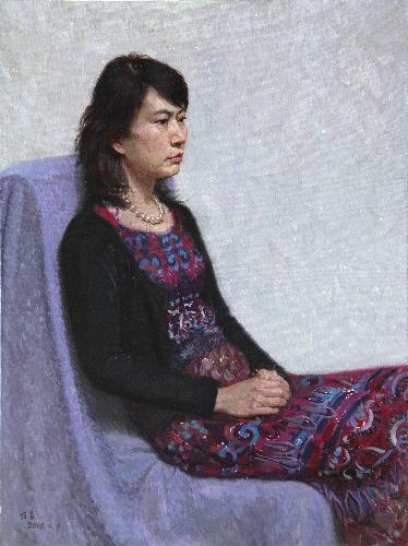 《穿紫裙子的女孩像》