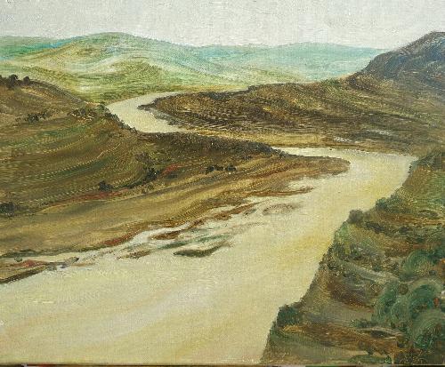 《晋陕黄河段大峡谷》
