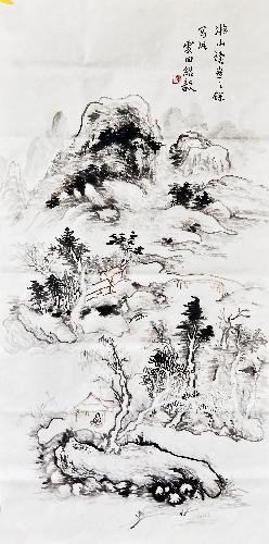 疏林远岫图