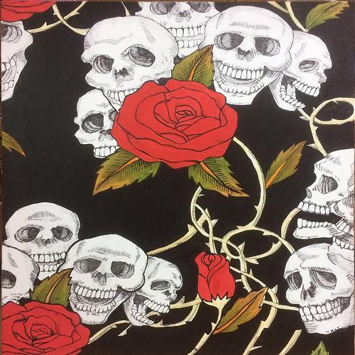 骷髅与玫瑰
