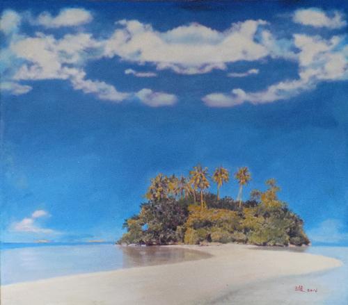 深蓝系列-椰林岛