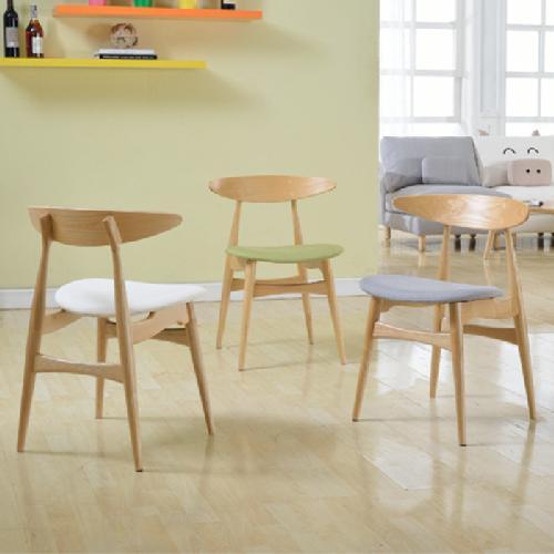 北欧简约组合实木椅