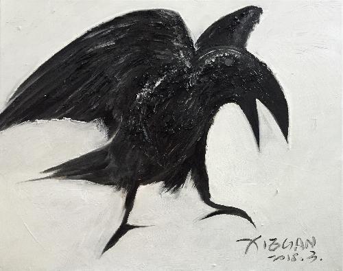 动物习作—乌鸦2