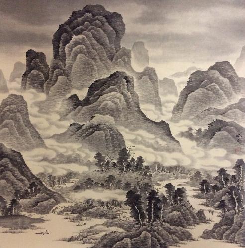 云横秀岭图