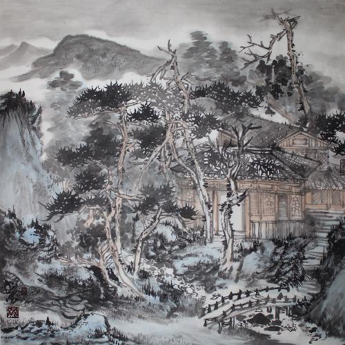 秋山雨霁图