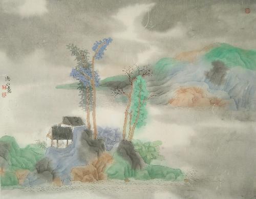 青绿山水(1)