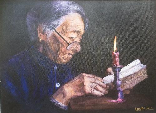 烛光里的妈妈