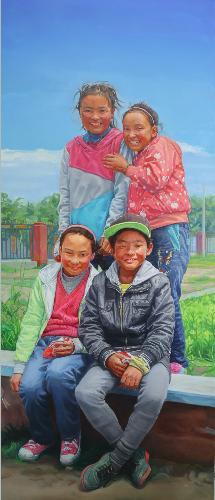 西藏儿童组画之右