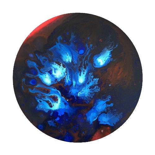 蓝色的绽放