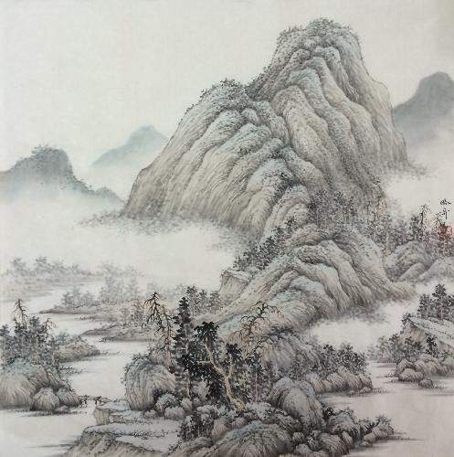 《山水相依图三》