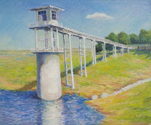 万山湖的水塔