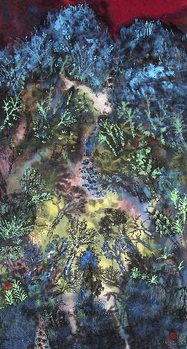 青山对峙绿树滴