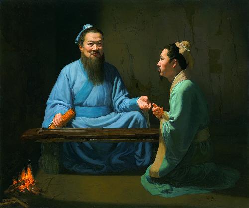 《圣道-孔子与颜回》